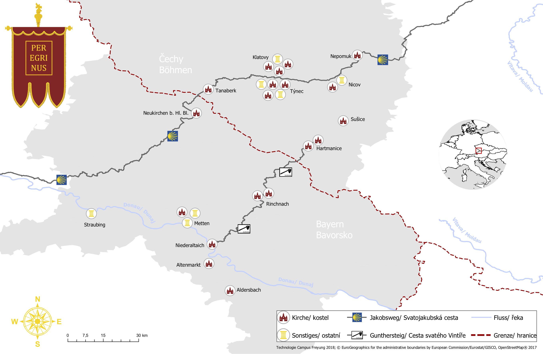 Map Peregrinus